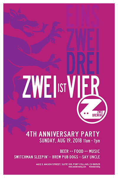 4th Anniversary Party at Zwei Brewing - Fort Collins, Colorado